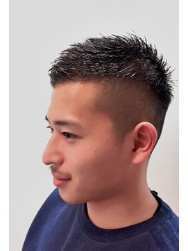 ショート メンズ ベリー ツー 髪型 アシメ ブロック